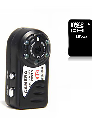 Other פלסטיק Mini Camcorder 1080P / Microphone שחור 1.4