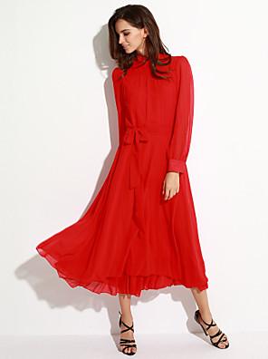 שמלה - מקסי - שיפון - וינטאג'