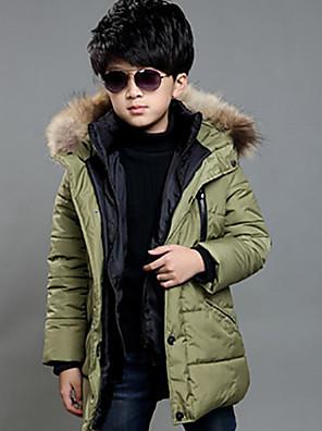 Boy Běžné/Denní Jednobarevné Zima S podšívkou Bavlna Zelená