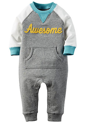 Baby Casual/Daily Print Hoodie & SweatshirtCotton Spring / Fall-Blue / Gray