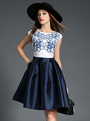 Maxlindy Women's Going out / Party/Cocktail / Holiday Vintage / Street chic /Swing Pin up Dress