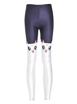 Ženy Polyester / Spandex Tištěné Legging