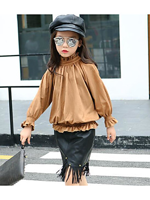 Girl Casual/Daily Solid Blouse,Cotton Winter / Fall Regular