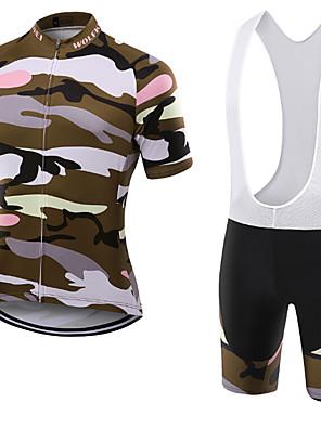 Esportivo Camisa com Bermuda Bretelle Unissexo Manga Curta MotoRespirável / Secagem Rápida / Á Prova-de-Pó / Vestível / Compressão /