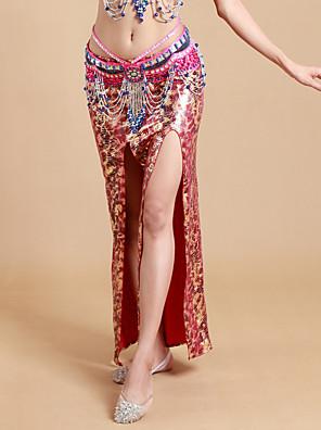 ריקוד בטן חצאיות טוטו וחצאיות בגדי ריקוד נשים ביצועים ספנדקס / פוליאסטר Leopard חלק 1 טבעי חצאית 93cm