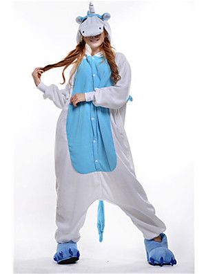 Kigurumi Pyjama  nieuwe Cosplay® / Unicorn Gympak/Onesie Festival/Feestdagen Animal Nachtkleding Halloween Blauw Patchwork Fleece Kigurumi