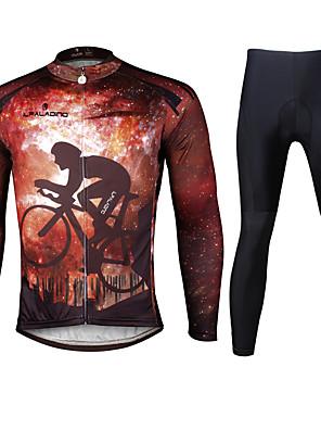 PALADIN® Calça com Camisa para Ciclismo Homens Manga Comprida MotoRespirável / Secagem Rápida / Resistente Raios Ultravioleta / Bolso