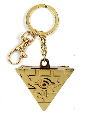 אביזרים נוספים קיבל השראה מ Yu-Gi-Oh קוספליי אנימה אביזרי קוספליי שרשרת מפתחות מוזהב סגסוגת