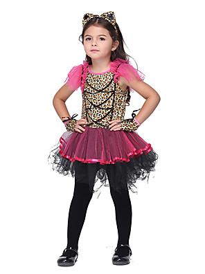 Cosplay šaty Inspirovaný Šťastná hvězda Mai Shiranui Anime Cosplay Doplňky K šatům / Vlasové ozdoby / Rukavice Czerwony Polyester Dítě