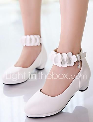 82354b792b0 Κοριτσίστικα Παπούτσια PU Άνοιξη / Φθινόπωρο Λουλουδάτα φορέματα για  κορίτσια / Tiny Τακούνια για Teens Τακούνια