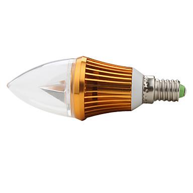 Lâmpada Vela Decorativa E14 3 W 270 LM K Branco Natural 3 LED de Alta Potência AC 85-265 V C de ...