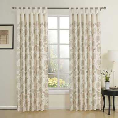 Two Panel Modern Beige Novelty Eco-friendly Window Curtains Drapes ...