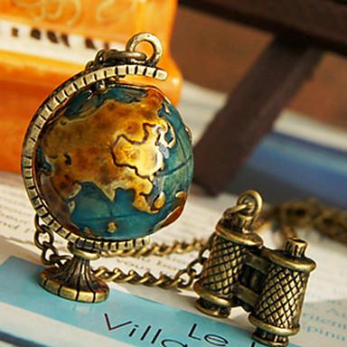 Women's Globe Telescope Necklace