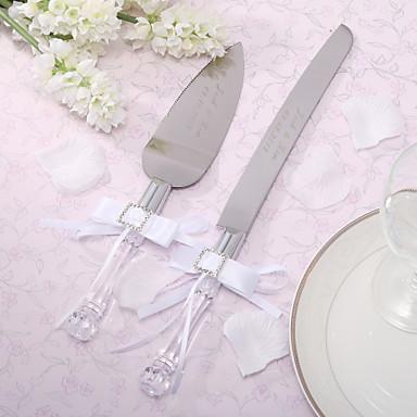 serving sets wedding cake knife personalized satin bowknot cake knife and server set 552147 2016. Black Bedroom Furniture Sets. Home Design Ideas