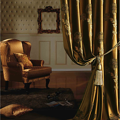 To paneler europeisk / neoklassisk blomster / botanikk gull ...