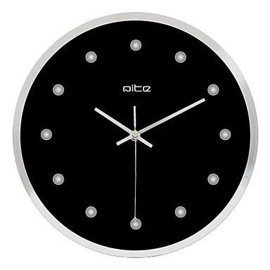 12 h black business stainless steel wall clock 546301 2017. Black Bedroom Furniture Sets. Home Design Ideas