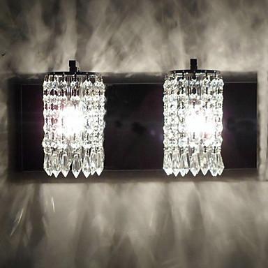 Buy Crystal Wall Sconces,Modern/Contemporary E12/E14 Metal
