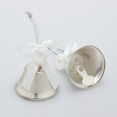 Wedding Decor Silver Widding Bell With Satin Flower Set Of 6 680907 2017 399