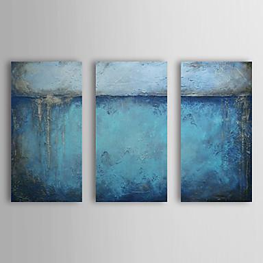 Peint la main abstrait trois panneaux toile peinture l 39 huile hang pei - Peinture huile abstraite ...