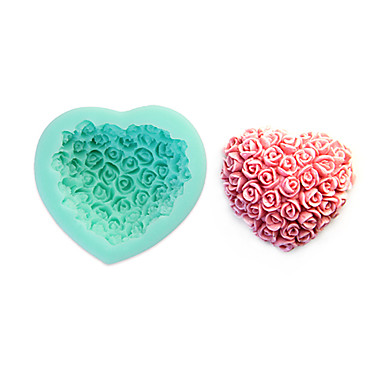 Buy 3D Rose Fondant Cake,Food-grade Silicone,Chocolate Candy Soap Mold