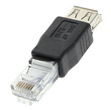Usb 2 0 female to rj45 male adapter black for ethernet - Adaptateur rj11 rj45 ...