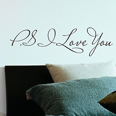 Buy Words P.S Love Wall Stickers