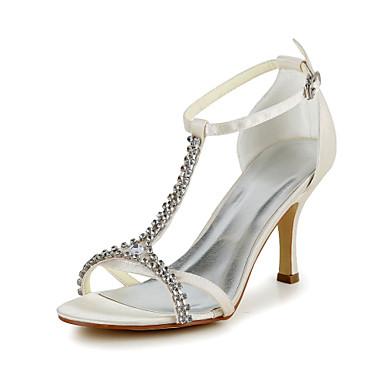 Buy Women's Spring / Summer Heels T-Strap Satin Stretch Wedding Stiletto Heel