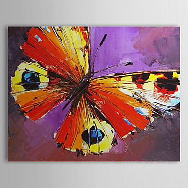 Hand Painted Oil Painting Animal Butterfly with Stretched Frame 1309-AN1016