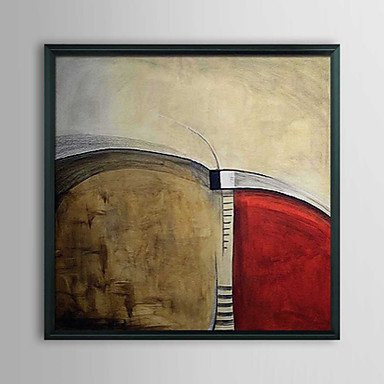 Abstract High Way Framed Oil Painting