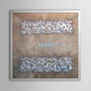Abstract Equal Sign Framed Oil Painting
