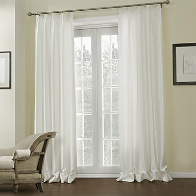 Two Panels Modern Gingham Off White Living Room Polyester Panel Curtains Drapes 687387 2016