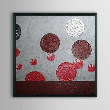 Abstract Wool Balls Framed Oil Painting