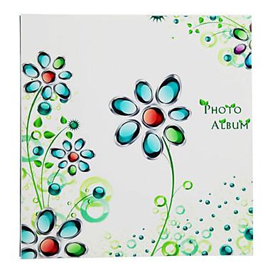 "13.25""Green Floral Style Stoving Varnish 10""*12"" Photo Album(20 Pocket 40 Sides)"