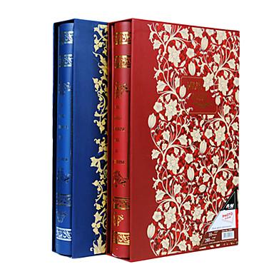 """Golden Floral Gilding Paper 3""""*5"""" Photo Album(300 Pocket)"""