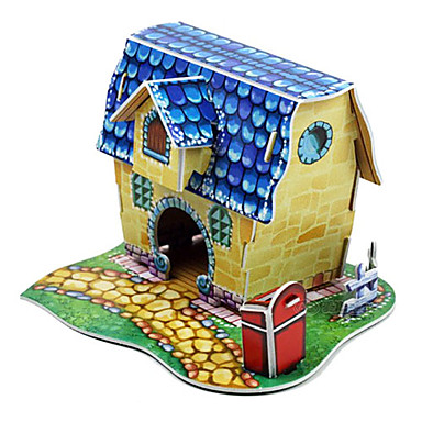 3D Lovely Blue House-10 Pieces