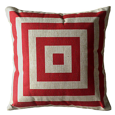 Buy Red Square Box Decorative Pillow Cover