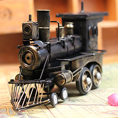 """11""""Antique Style Loco Type Metal Collectible"""