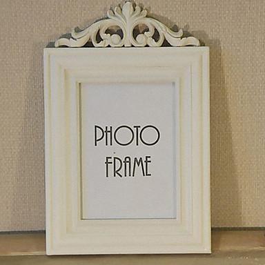 "11""H Retro Style White Picture Frame"