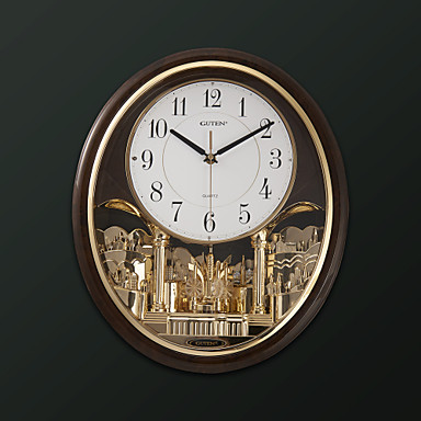 17 H Modern Style Light Controlled Melody Wall Clock With Pendulum 1090662 2016