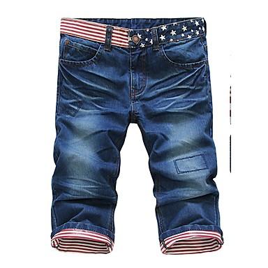 Ocio ocasional Pantalones rectos algodón 3D impresión