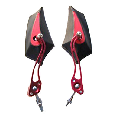 Motorcycle Remould Parts Aluminium Material Polygon Rearview Mirror(Optional Colors Pair)