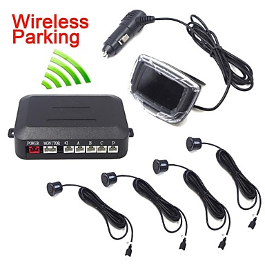 Wireless Car LED Parking Sensor with 4 Sensor and Monitor Display