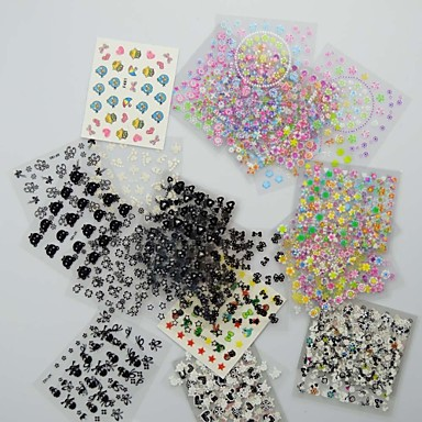 Buy 53D Design Nail Art Stickers Tips Manicure (Mixed Random Styles)