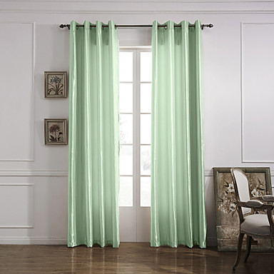 Modern One Panel Solid Living Room Polyester Panel Curtains Drapes ...