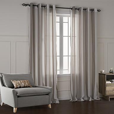 deux panneaux moderne tartan champagne chambre coucher coton panneau rideaux rideaux de. Black Bedroom Furniture Sets. Home Design Ideas