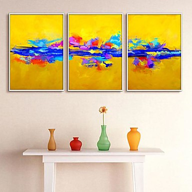Abstract Framed Canvas Print Set of 3