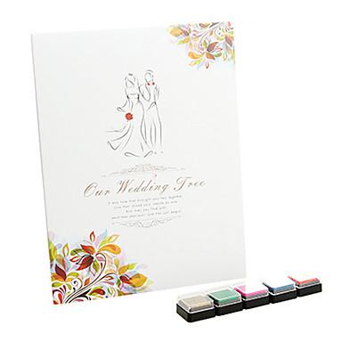 mariage heureux signature livre d 39 or empreinte digitale avec 5 couleurs inkpad de 1332028 2017. Black Bedroom Furniture Sets. Home Design Ideas
