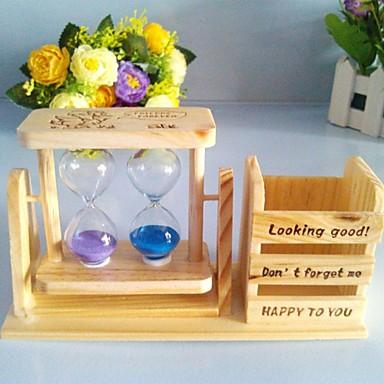 exquisite geschenk log sanduhr feder beh lter aus holz. Black Bedroom Furniture Sets. Home Design Ideas
