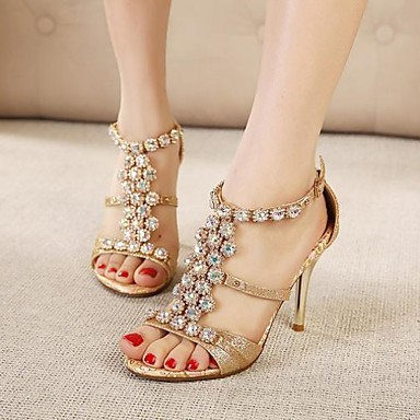 Women's Shoes Shimandi Ankle Strap Stiletto Heel Rhinestone Sandals Shoes