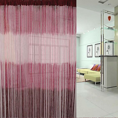 "(39""W * 117""L) Classic Burgundy And White Gradient Ramp Curtain Line"